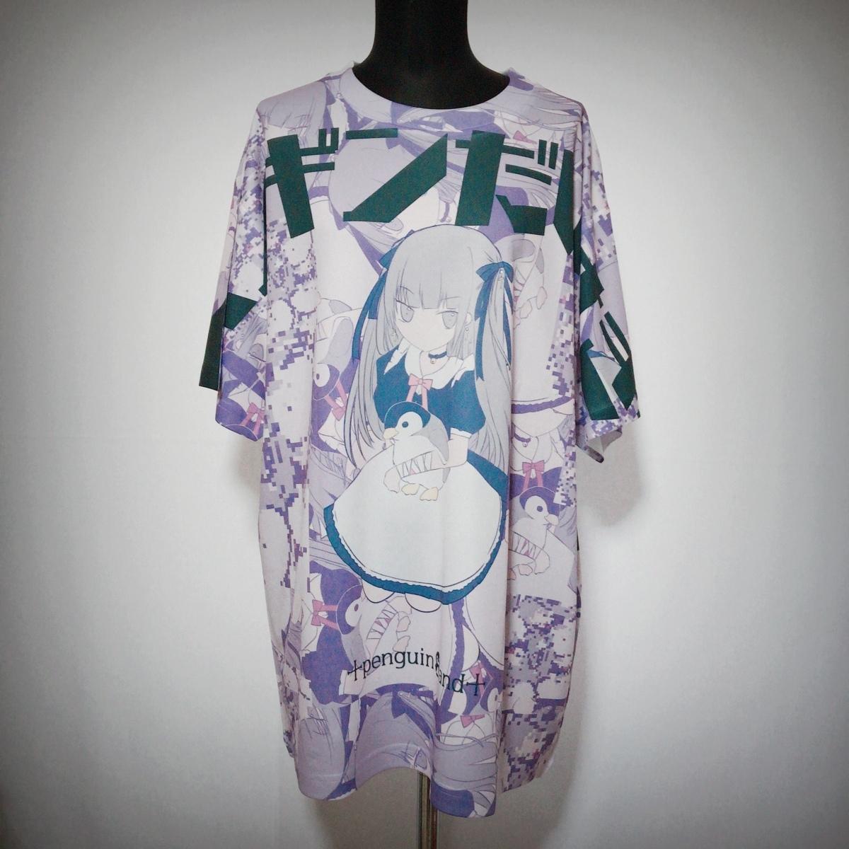ペンギンだいすきモザイクの目 フルグラフィック Tシャツ XL 原宿系 派手 ゆめかわいい 病みかわいい パンク メイド メンヘラ ヤンデレ