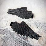 堕天使の翼 ゴスロリ ゴシック 病みかわいい 闇 ダーク 羽 羽根 黒い翼 ゆめかわいい 原宿系 コスプレ ロリータ 個性